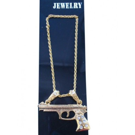 Golden Gun-Metal Necklace
