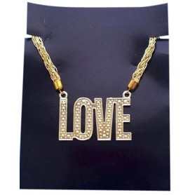 Love Necklace - Gold Plastic