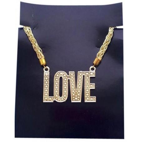 Love Necklace - Gold Plastic