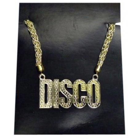 Disco - Gold Plastic Necklace