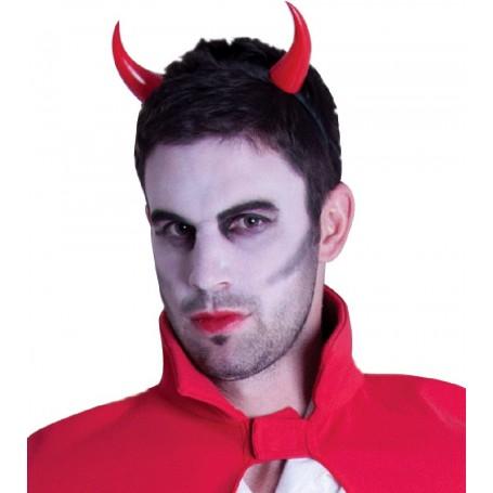Plastic Devil Horns on Headband