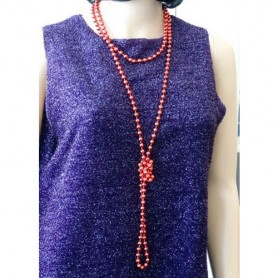Beads Flapper - Red 183 cm