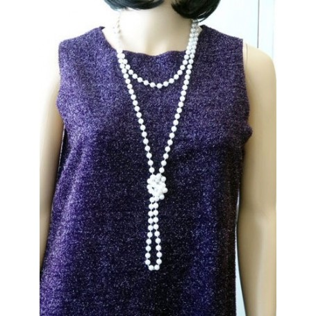 Beads Flapper - Pearl  183 cm