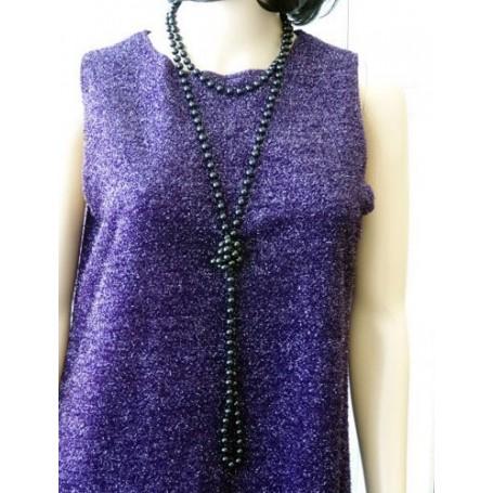 Beads Flapper - Black   183 cm