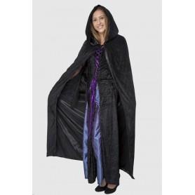 Adult Costume - Cape Reversible Black (Satin)