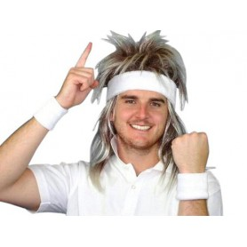 80S Tennis Sweatband Set - White