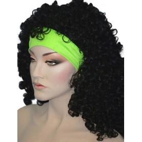 80S Headband Lycra - Neon Green