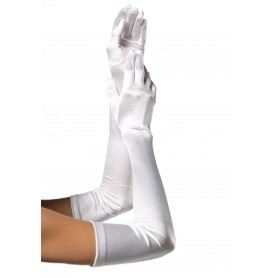 Gloves - Long Satin White
