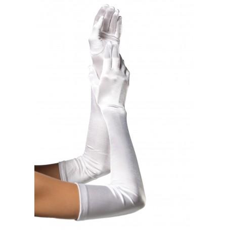 Gloves - Long Satin White