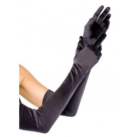 Gloves - Long Satin Black