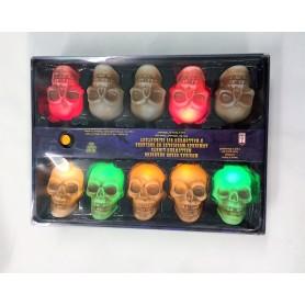 Horror Lights Skull Flashing/Music Sensor