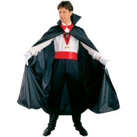 "Black Dracula Collar Cape 56""- Adult"