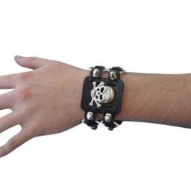 Wristband - Punk Studded Skull Wristband