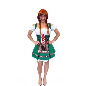 Womens Gretel Girl Oktoberfest Costume - Large