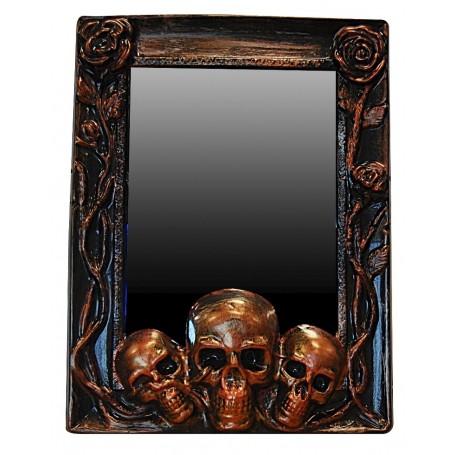 Skull Mirror Prop - Bronze