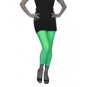 Lycra Footless Tights - Neon Green