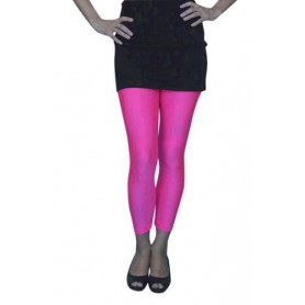 Lycra Footless Tights - Neon Pink
