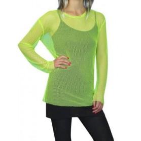 80s Fishnet Top - Neon Green