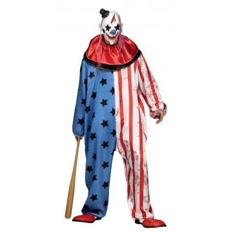 Evil Clown Collared Mens Costume