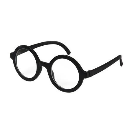 Adult Wallace Glasses w/Lens - Black