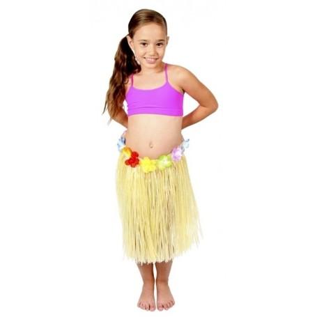 Hawaiian Skirt - Natural - Childs 40cm