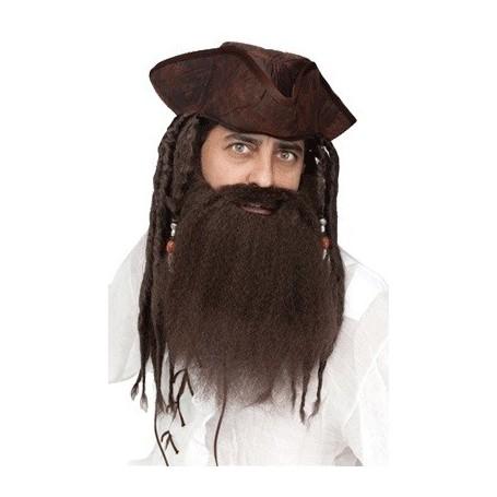 Crimped Pirate Beard - Brown
