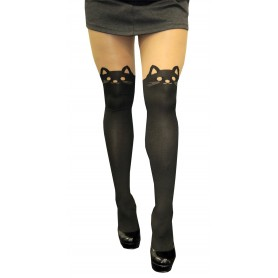 Cute Faux Thigh Highs - Kitty Cat