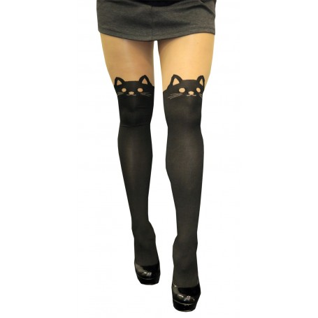 7bf3c28f0bb Cute Faux Thigh Highs - Kitty Cat