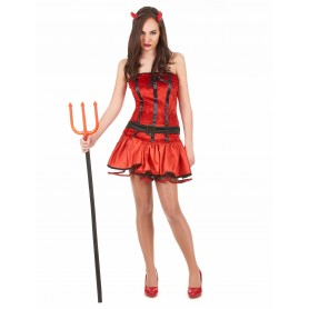 Halloween costume of sexy devil women