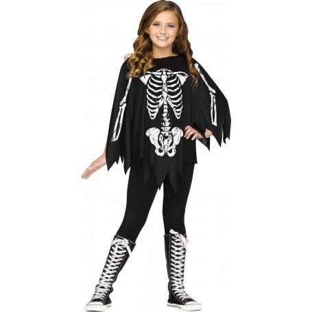 Child Skeleton Poncho - Skeleton