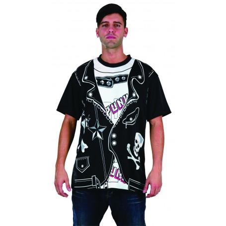 Punk Print T-Shirt - Adult