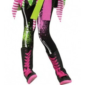 Child Footless Tights - Neon Bones M/L