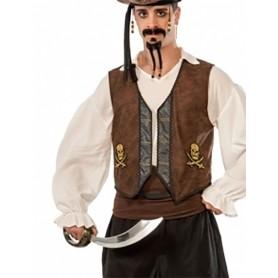 Faux Suede Buccaneer Pirate Vest