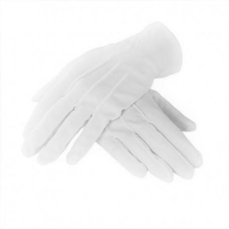 Short White Gloves - Small