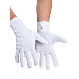 Short White Gloves - Medium