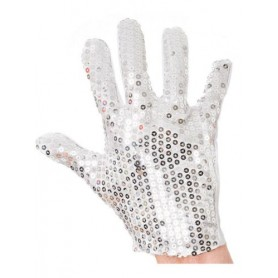 Michael Jackson Silver Sequined Glove