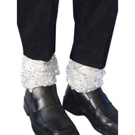 Michael Jackson Silver Ankle Covers (Pair)