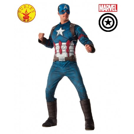 Captain America Deluxe Costume - Adult