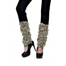 80s Leopard Print Leg Warmers