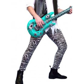 80s Zebra Rocker Footless Tights