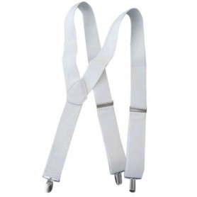 Trouser Braces/Suspenders - White