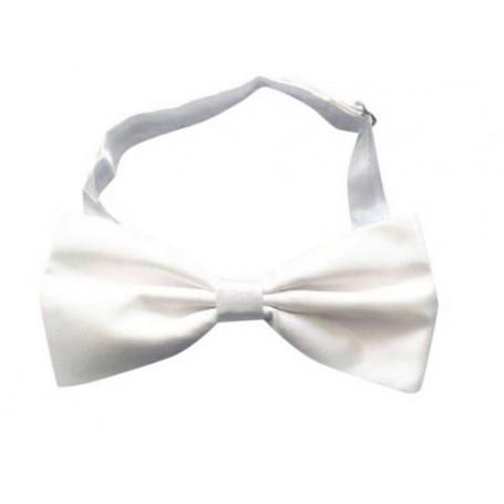 White Satin Adjustable Bow Tie