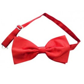 Red Satin Adjustable Bow Tie