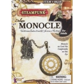 Deluxe Steampunk Monocle - Gold & Brass