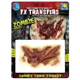 Zombie Torn Throat 3D FX Transfer - Medium