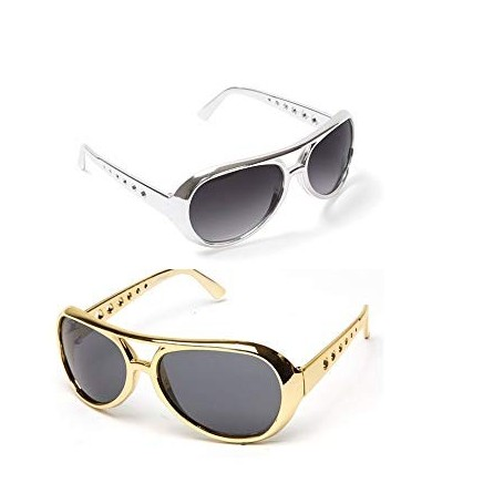 Men/'s Elvis Presley 1950/'s 60/'s Silver Or Gold Shades The King Stag Night Theme