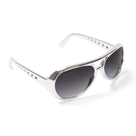 Elvis Style Silver Sunglasses - Adult