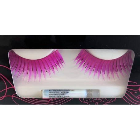 Pink Lashes with Tinsel