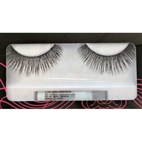 Black and Silver Glitter Lashes