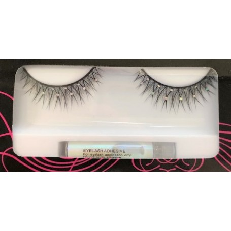 Black Criss Cross Lashes with Sparkles